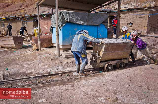 Working in the mines of Potosi, Bolivia