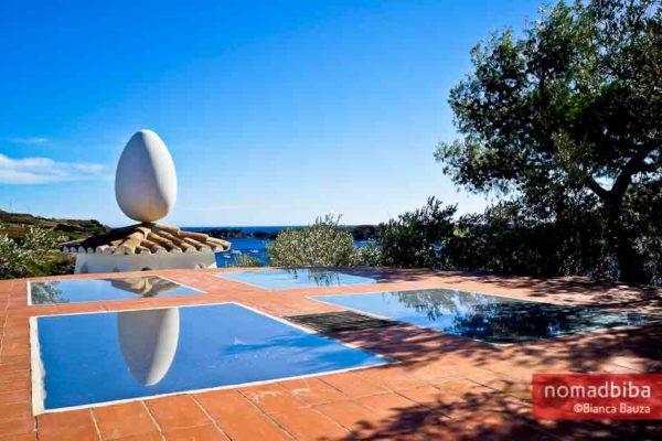 Egg sculpture at Casa Museu Salvador Dalí in Port Lligat, Spain