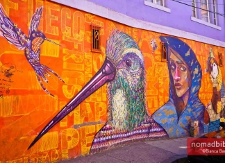 Street art in Valparaiso, Chile: Charquipunk, INTI & LRM