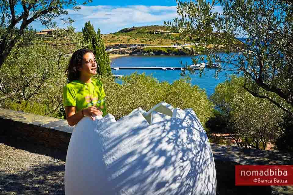 Enjoying the view at Casa Museu Salvador Dalí in Port Lligat, S