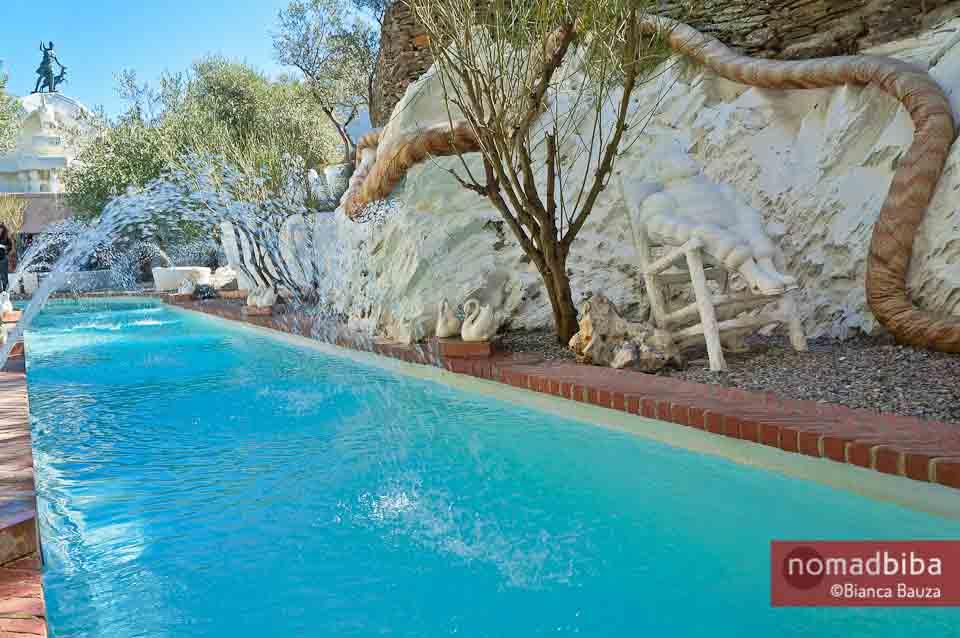 Swimming pool at Casa Museu Salvador Dalí in Port Lligat, Spain
