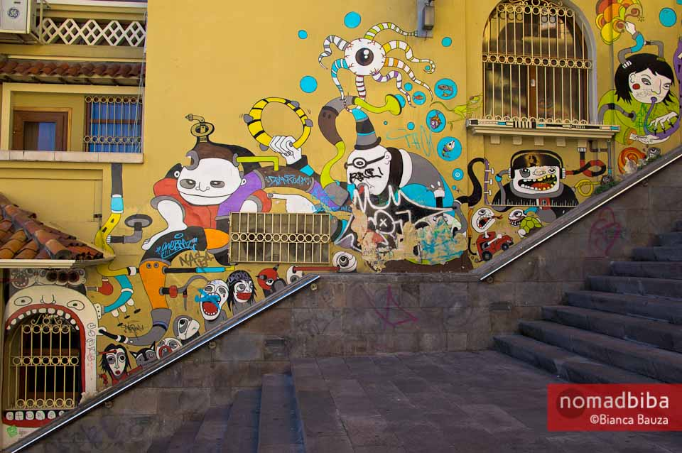 Street art in Cuenca, Ecuador