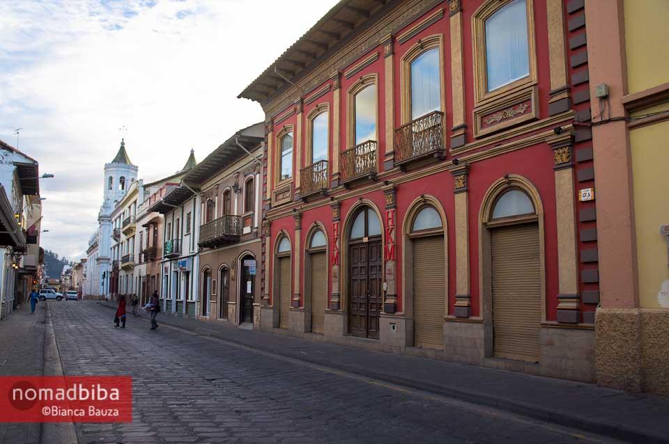 Street view in Cuenca, Ecuador