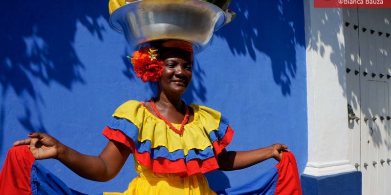 Palenquera in Cartagena (Colombia)