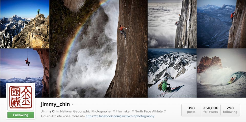 Instagram: @jimmy_chin