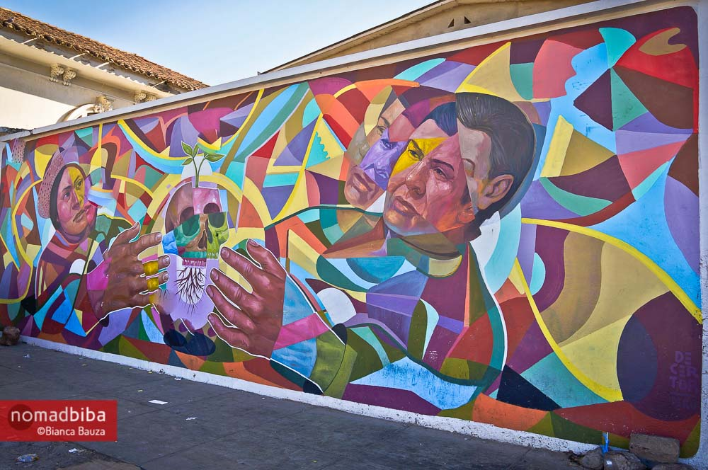Mural by Decertor in Cochabamba, Bolivia