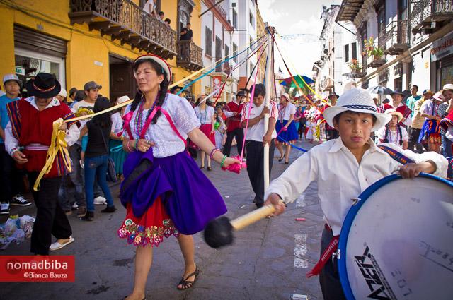 Dancers at the Parada del Niño in Cuenca, Ecuador