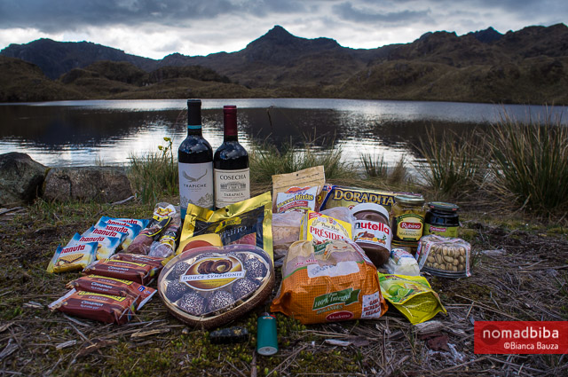 Christmas dinner at El Cajas National Park in Ecuador