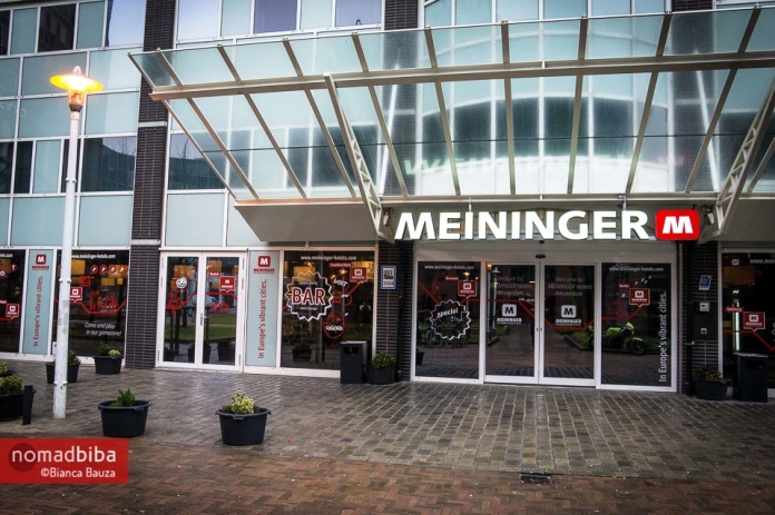 Entrance to the MEININGER Hotel Amsterdam