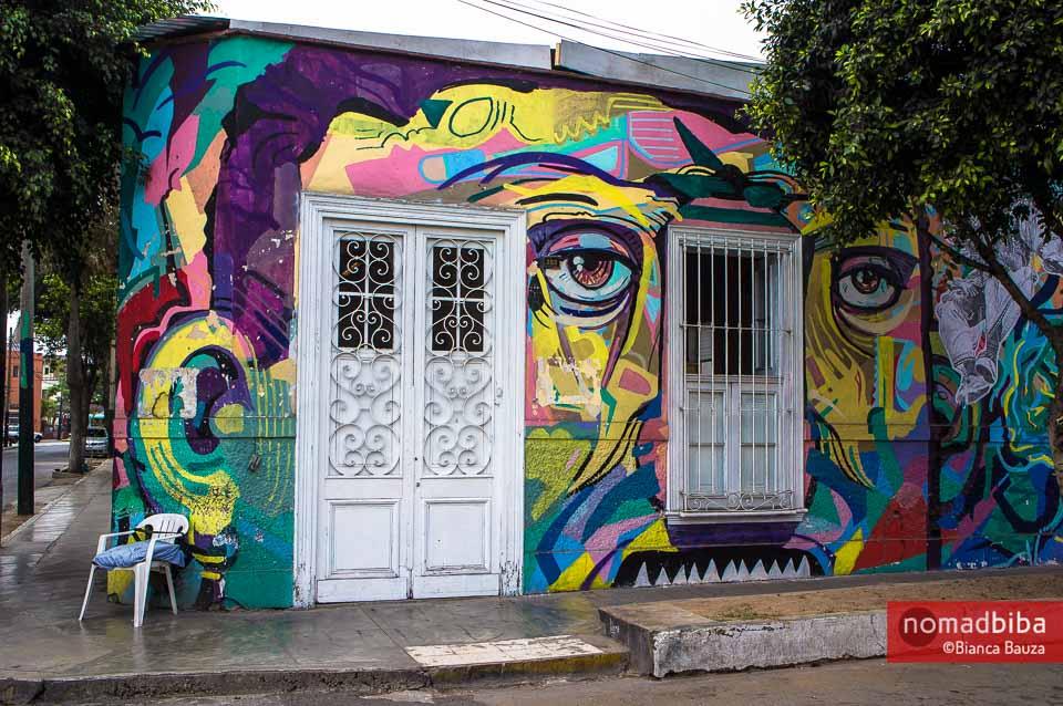 Street art in Barranco, Lima (Peru)