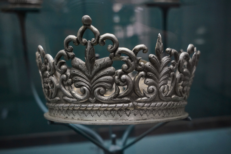 Crown at Casa de la Moneda in Potosi, Bolivia