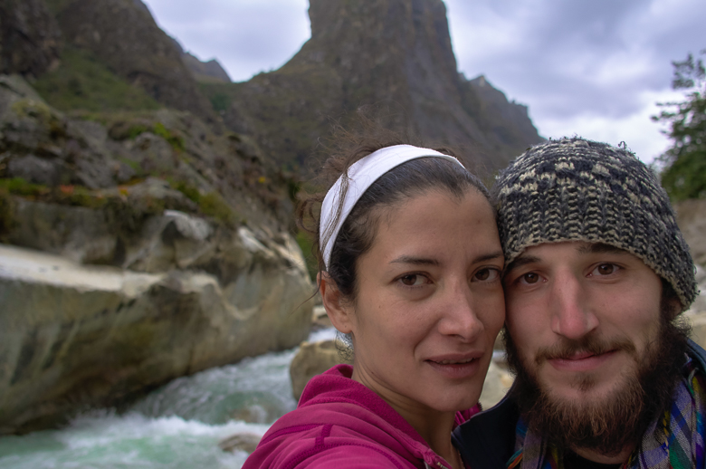 Edwin and me on the first day of the Santa Cruz trek in Peru