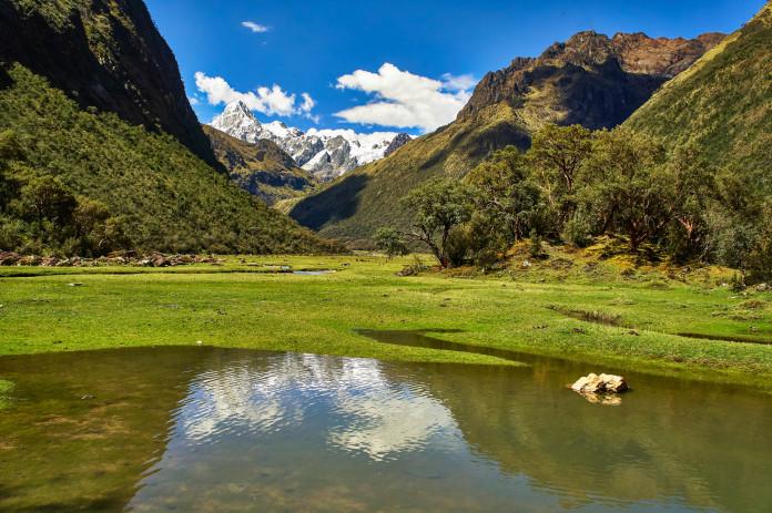 Beautiful view at the Santa Cruz trek in Peru