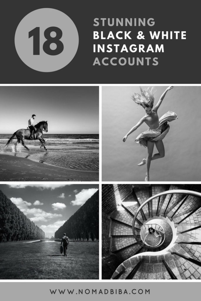 Pin B&W IG Accounts
