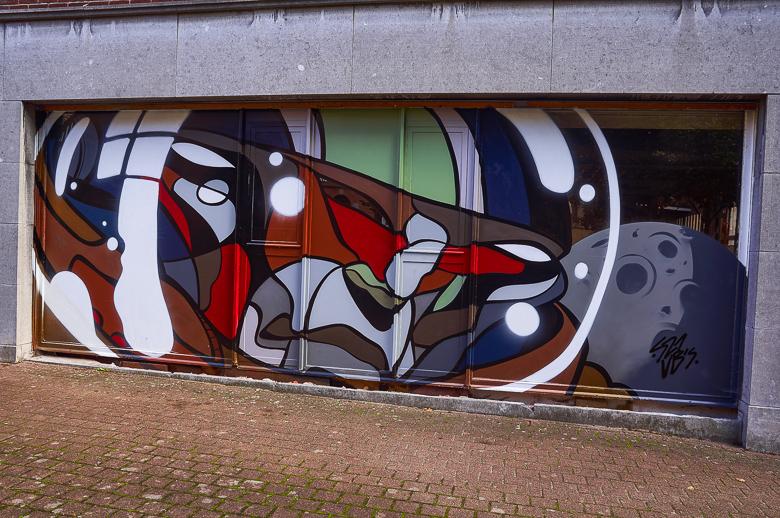 Mural by Sozyone in Hasselt, Belgium