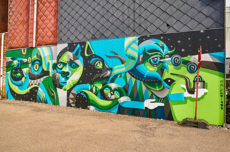 Mural by Eelco Virus in Hasselt, Belgium