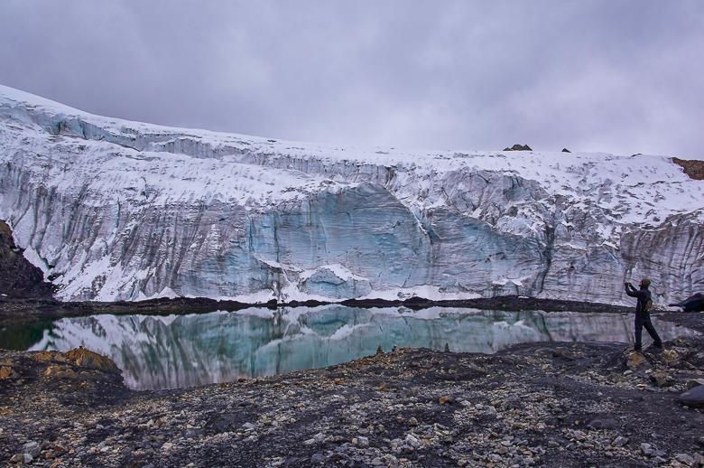 Getting close to the Pastoruri Glacier in Peru
