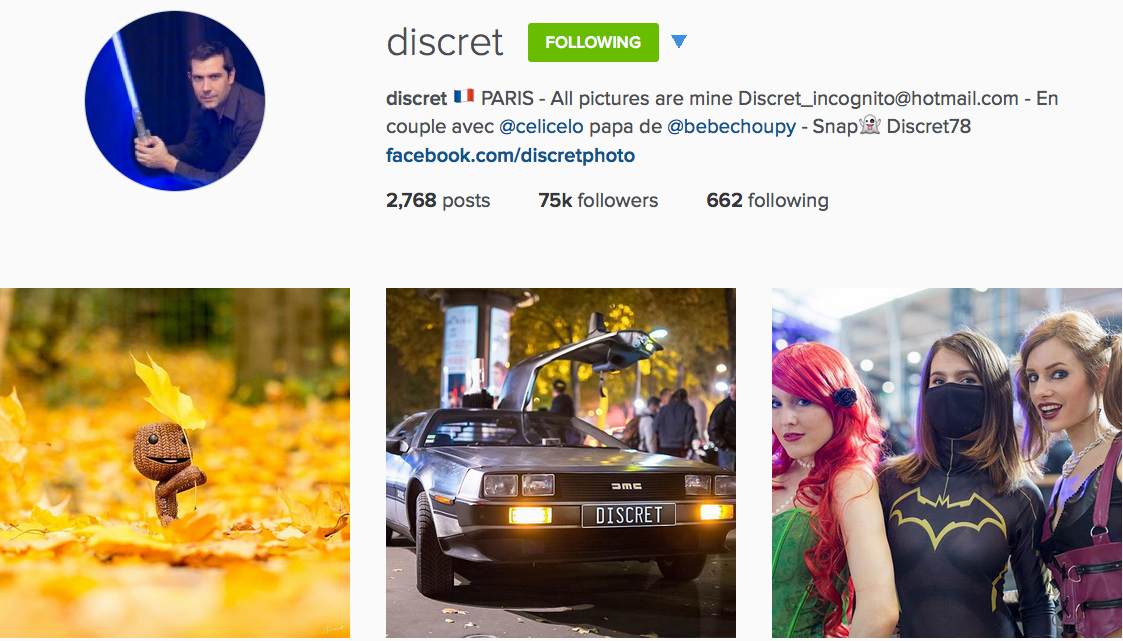Instagram: @discret