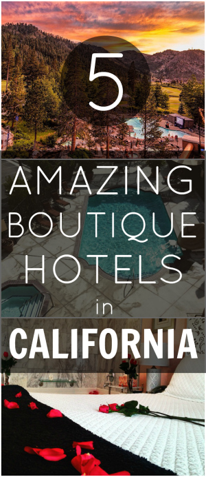 Pin Boutique Hotels in California
