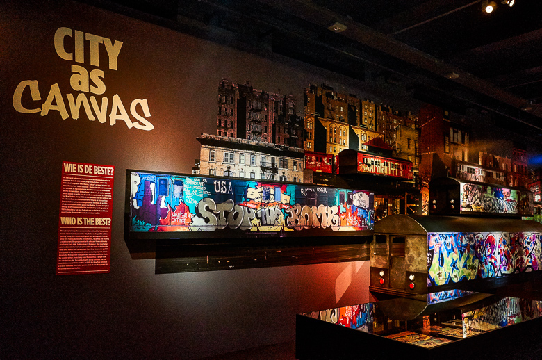 Graffiti. New York Meets the Dam exhibition at the Amsterdam Mus