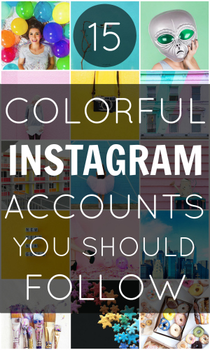 Pin Colorful Instagram Accounts