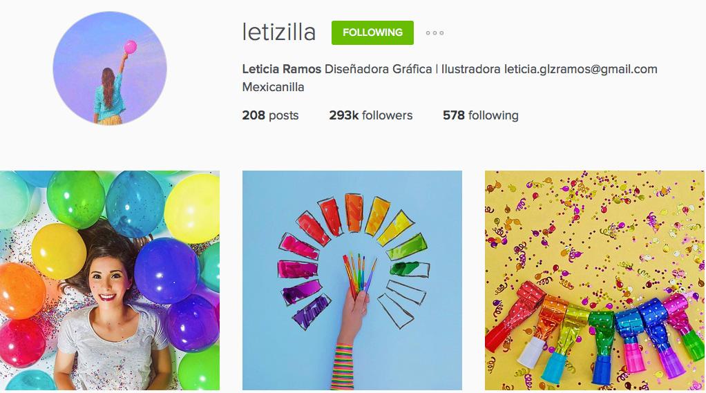 Instagram: @letizilla
