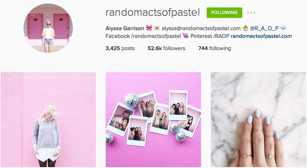 Instagram: @randomactsofpastel