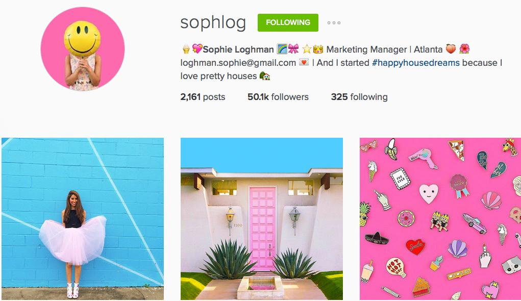Instagram: @sophlog