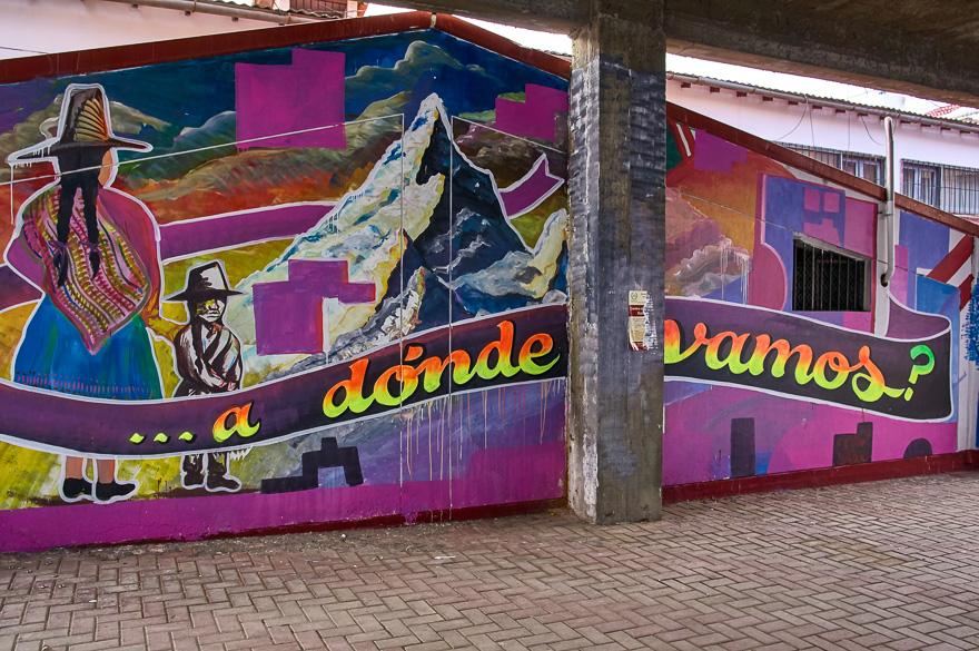Street art in Huaraz, Peru