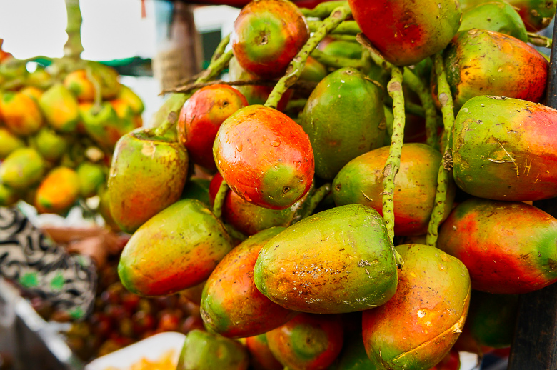 Exotic fruit at a market in San Jose, Costa Rica