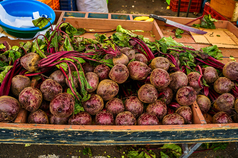 Beetroot at a market in San Jose, Costa Rica