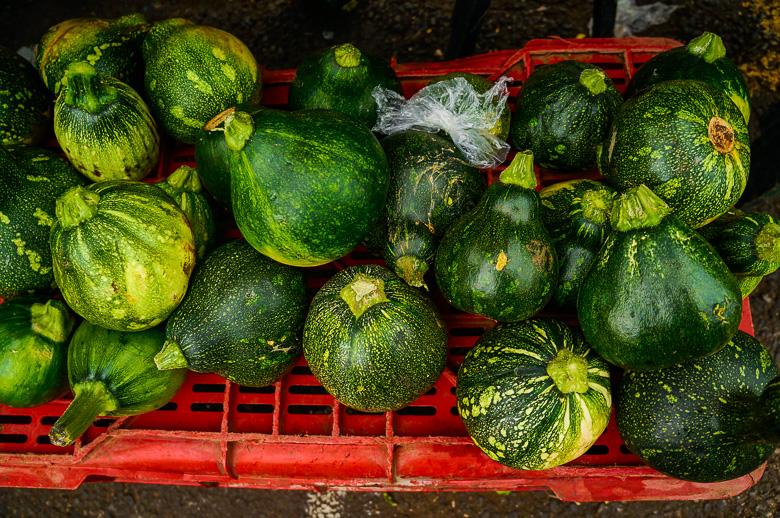 Zucchini at a market in San Jose, Costa Rica