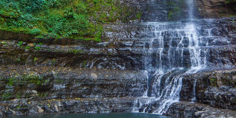 Juan Curi waterfall near San Gil, Colombia
