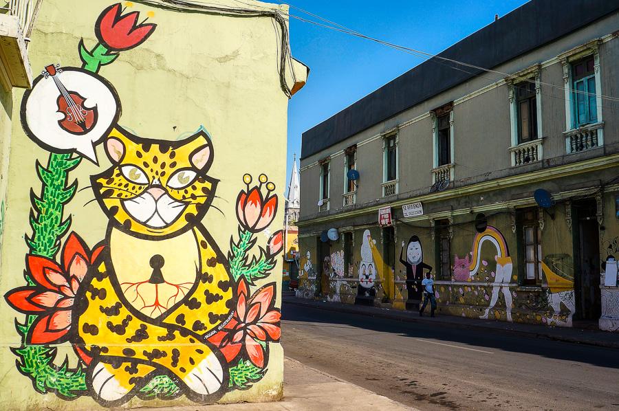 Mural by Brigada Negotropica in Santiago, Chile