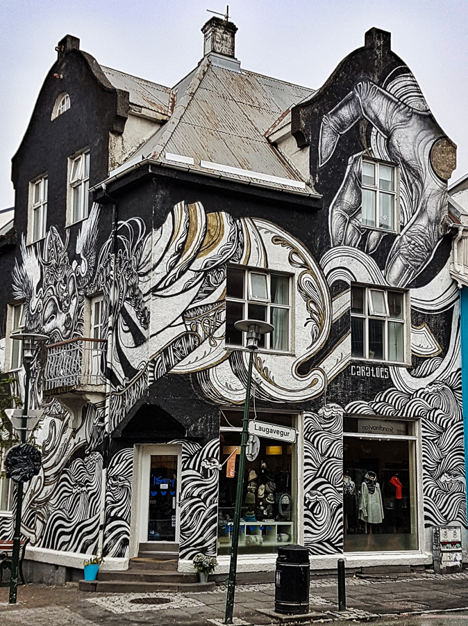 Reykjavik Street Art by Caratoes