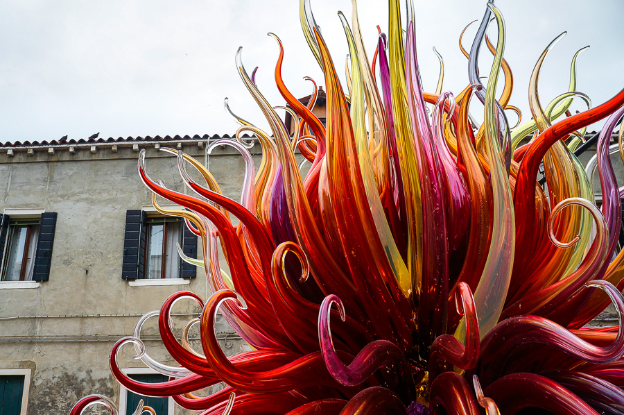 Glass art in Murano, Italy