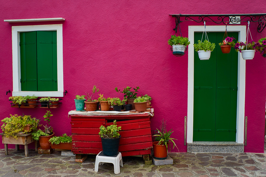 Colourful house in Burano, Italy