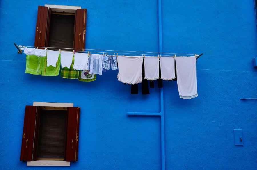 Laundry in Burano, Italy