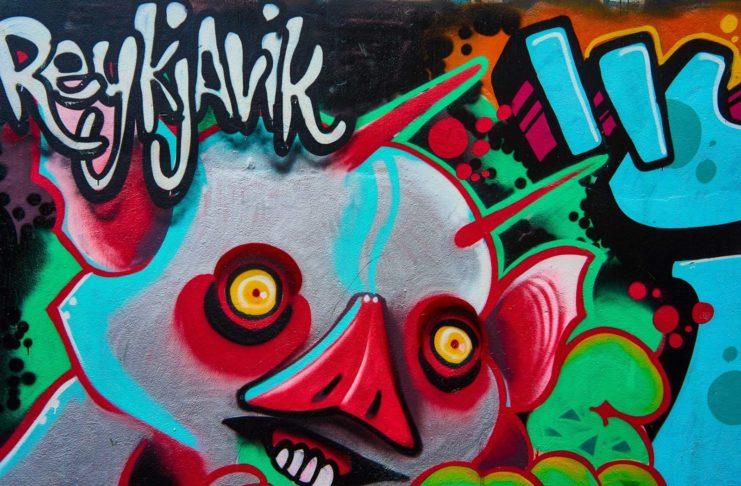 Street art in Reykjavík, Iceland.