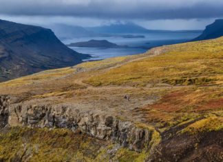 Landscape view on the hike to Glymur, Iceland