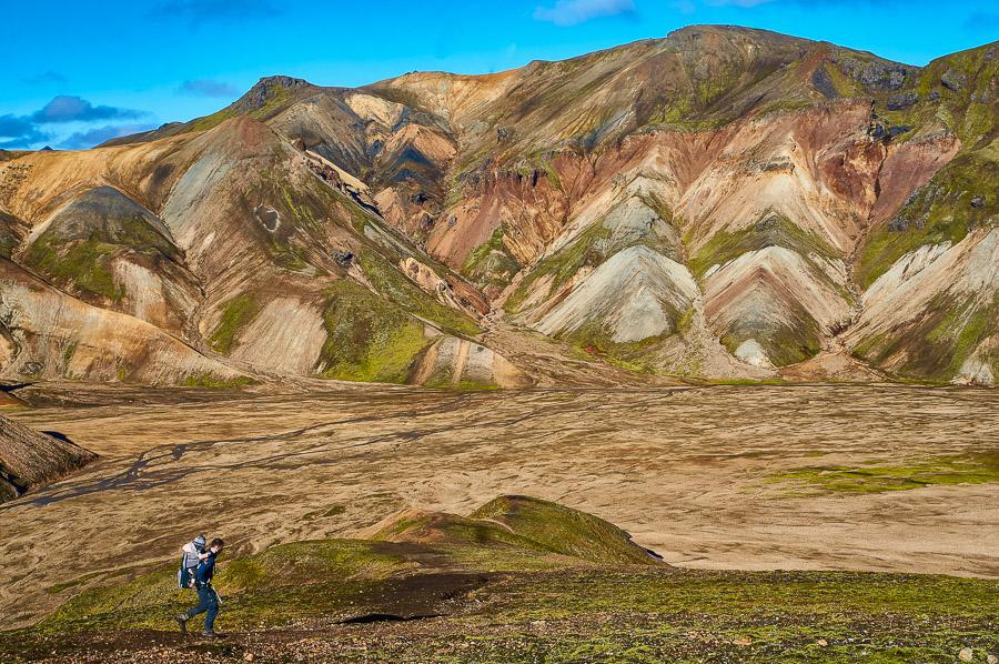 Hiking in Landmannalaugar, Iceland