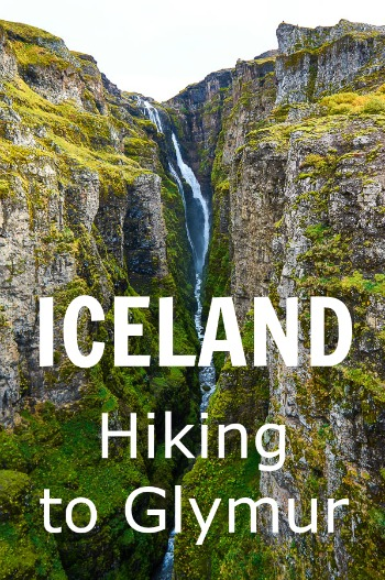 Hike to Glymur in Iceland