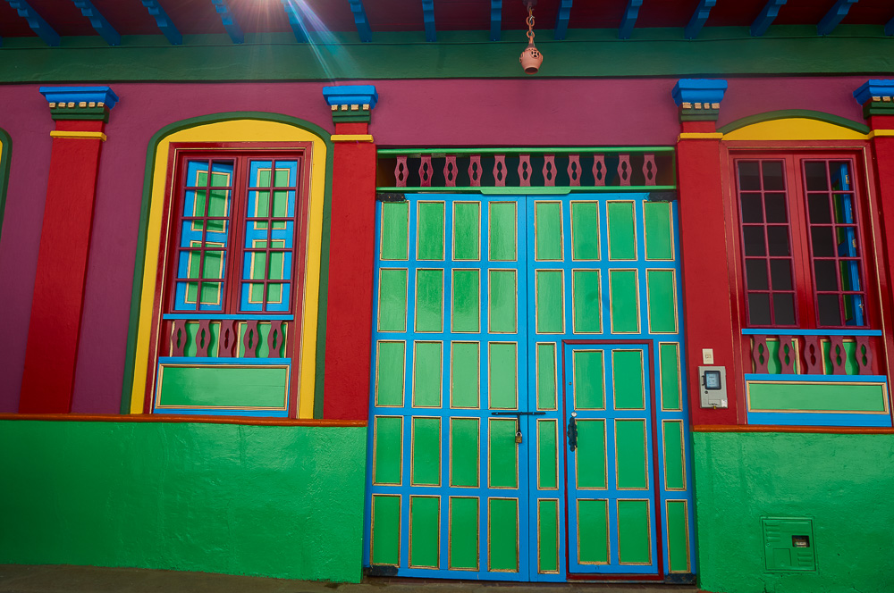 Colourful house in Ráquira, Colombia