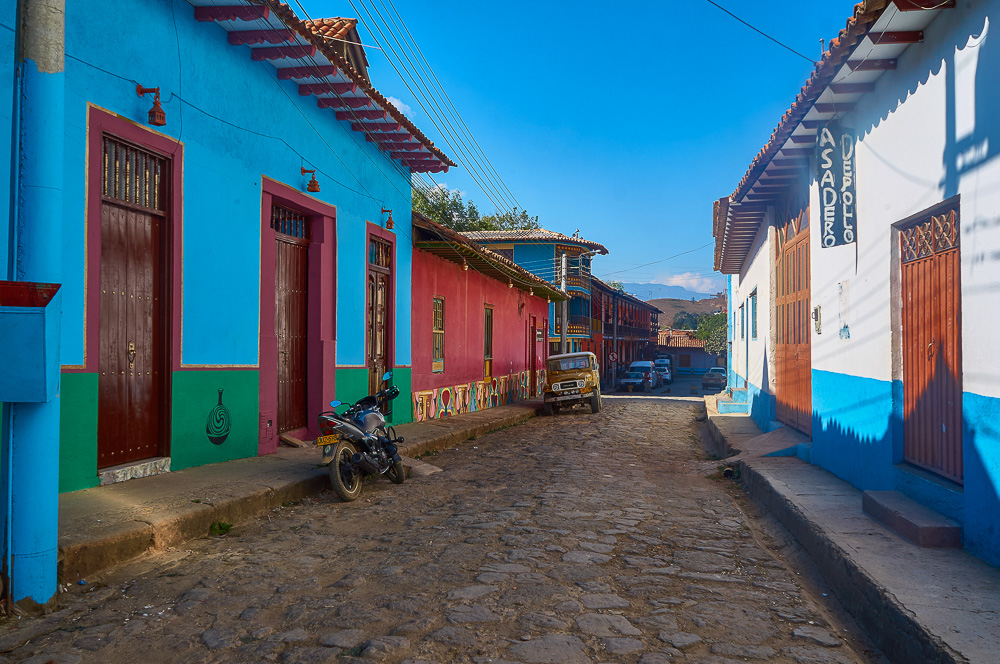 Street in Ráquira, Colombia
