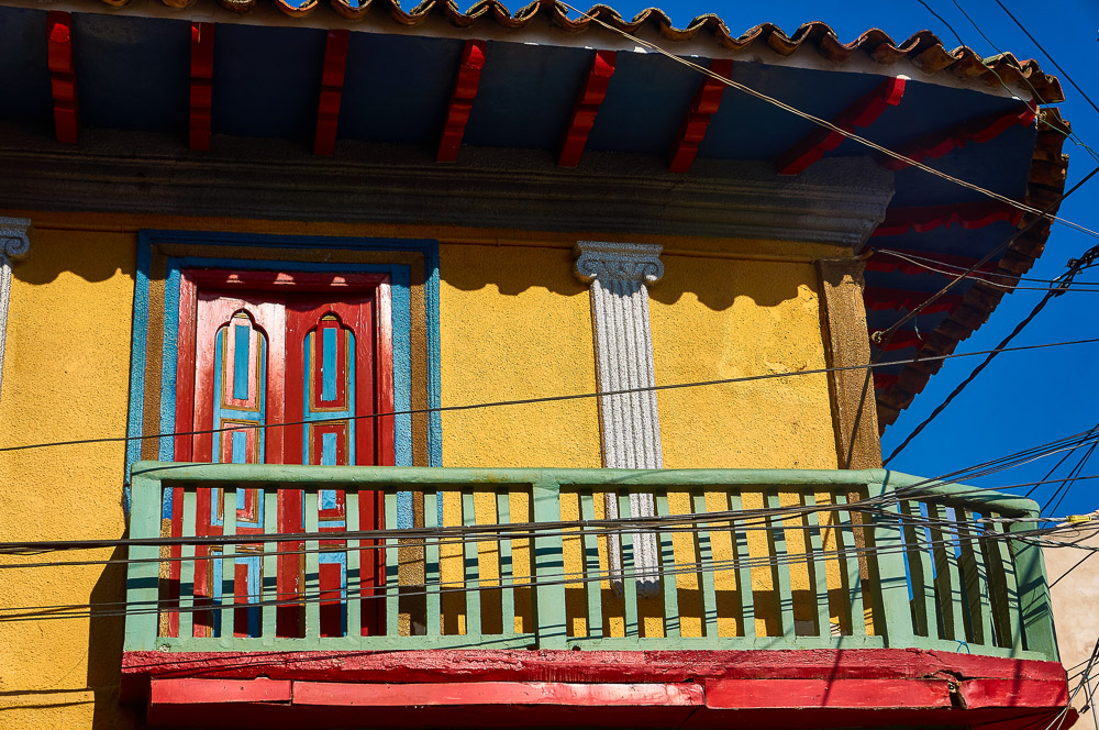Balcony in Ráquira, Colombia