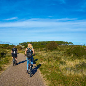 Cycling at the Zuid-Kennemerland National Park in the Netherlan