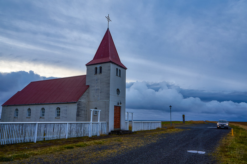 Church in the Snæfellsnes peninsula in Iceland