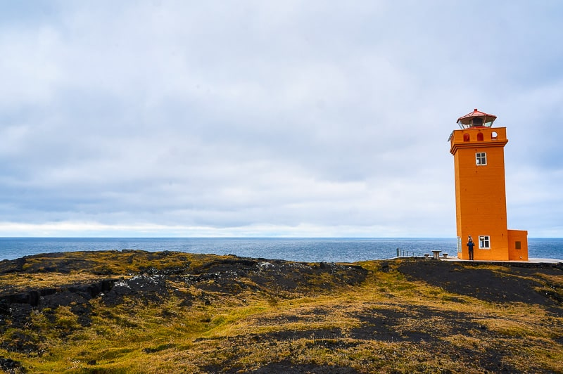 The Svörtuloft lighthouse in Iceland