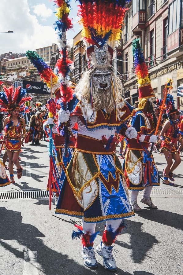 Tobas dancer at the Entrada Universitaria in La Paz, Bolivia