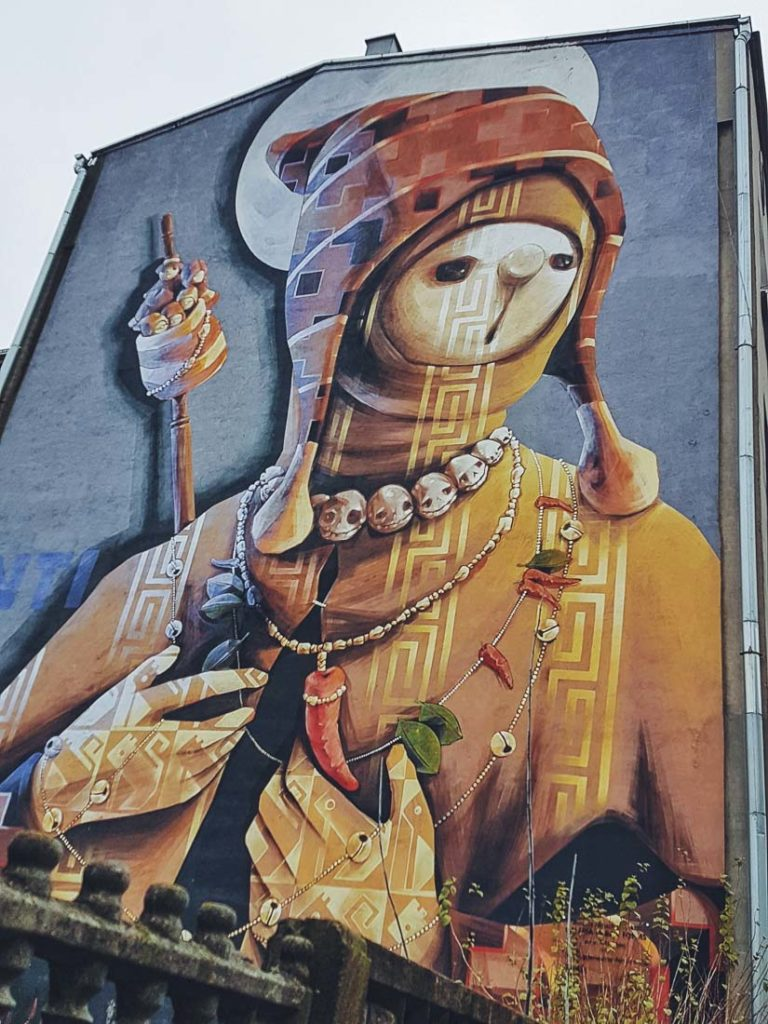 INTI mural in Lodz, Poland